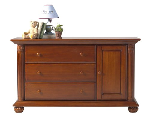 Baby Cache Heritage Combo Drawer, Classic Chestnut front-218215