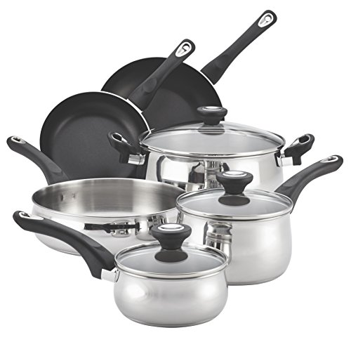 Farberware 78648 Traditions Stainless Steel 12-Piece Cookware Set