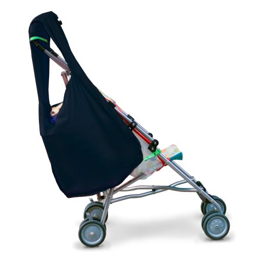 Hatch Things SureShop Reusable Shopping Bag That Clips On To Keep Strollers Standing, Black