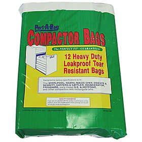 Port A Bag TRASH COMPACTOR BAGS 12ea Kraft Paper, Lined (Trash Can 17 Inch compare prices)