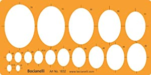 Metric Large Ellipse Ellipses Shapes Figure Symbols Drafting Drawing Template Stencil