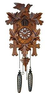 Quartz Cuckoo Clock 5-leaves, bird, incl. batteries TU 350 Q by ISDD Cuckoo Clocks