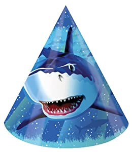 Creative Converting Shark Splash Birthday Party Hats, 8 Count from Creative Converting