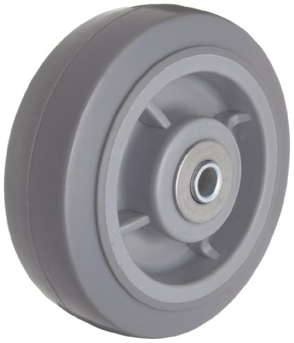 "RWM Casters RPR-0620-08 6"" Diameter Tread Performance TPR Wheels with Straight Roller Bearing, 525 lbs Capacity Range"
