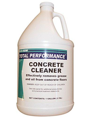 Flo kem 0018 heavy duty concrete floor cleaner 1 gal for Concrete floor cleaner degreaser