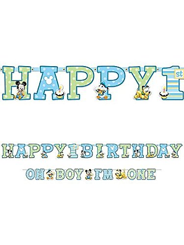 Mickey Mouse 1st Birthday Letter Banner Combo Pack