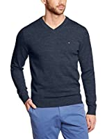 Tommy Hilfiger Classic - Pull - Uni - Col V - Manches longues - Homme