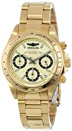 """Invicta Women's 14931 """"Speedway"""" 18k Yellow Gold Ion-Plated Stainless Steel Bracelet…"""