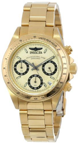"""Invicta Women's 14931 """"Speedway"""" 18k Yellow Gold Ion-Plated Stainless Steel Bracelet Watch"""