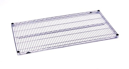 "Metro 1436BR Metro Super Erecta Brite Steel Wire Shelf, 800 lbs Capacity, 36"" Length x 14"" Width x 1"" Height (Pack of 4)"