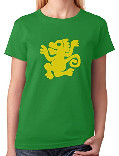 [TeeStars - Green Monkeys 90s Tribute Retro Halloween Team Costume Women T-Shirt Large Green] (Throwback Halloween Costumes)