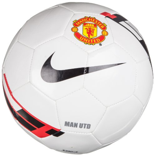 Nike fußball manchester united supporters ball white red black 5