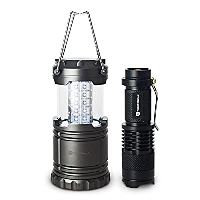 Super Bright LED Camping Lantern and LED Flashlight [Bundle] by Product Stop