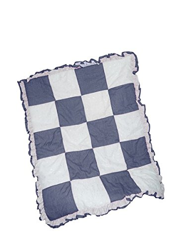 Baby Doll Gingham/Eyelet Patchwork Crib Comforter, Navy