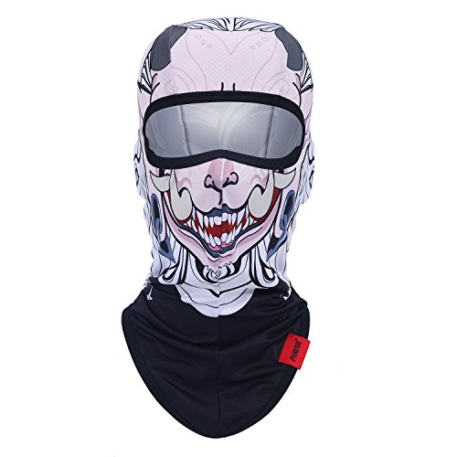Qinglonglin Full Face Mask Original Hand Painted Pattern Sports Cosplay Balaclava (Face Garments compare prices)