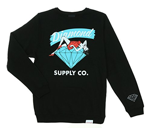 Diamond Supply Co. Men's Vices Fleece Crewneck Sweatshirt-Black-L (Diamond Supply Co Crew Fleece compare prices)