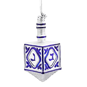 Noble Gems Kurt Adler 4-1/4-Inch Noble Gems Glass Jewish Dreidel Ornament at Sears.com