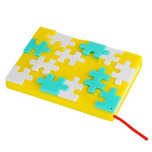 Creative DIY Puzzles Notebook Diary Work Record Book Cute Silicone Cover Snowflakes Notepad (Np1) - 1