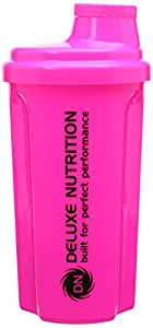 Deluxe Nutrition Shaker Bottle 700ml Neon Pink FREE Tracked Delivery