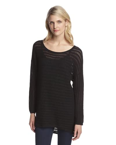 Cotton Addiction Women's High-Low Pointelle Pullover