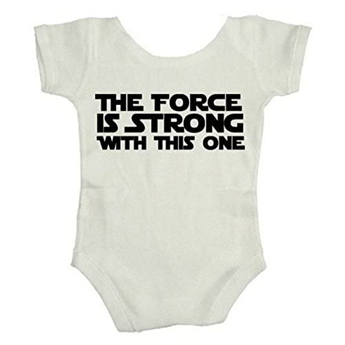 Teeshirtpalace the Force Is Strong with This One Baby Bodysuit