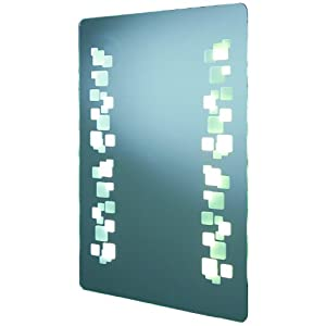Future Bathroom Mirror - Backlit - Contemporary 3D Pattern ...