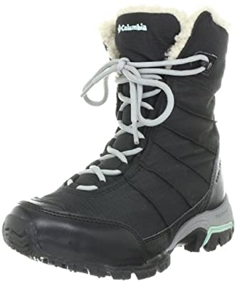 Columbia Women's Snolucky Snow Boot,Black/Gulfstream,5.5 M US