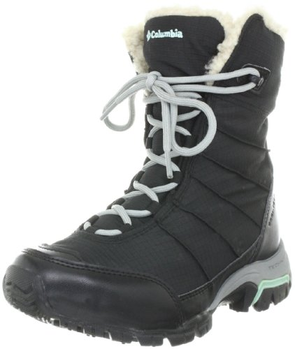 Columbia Women's Snolucky Snow Boot,Black/Gulfstream,5 M US