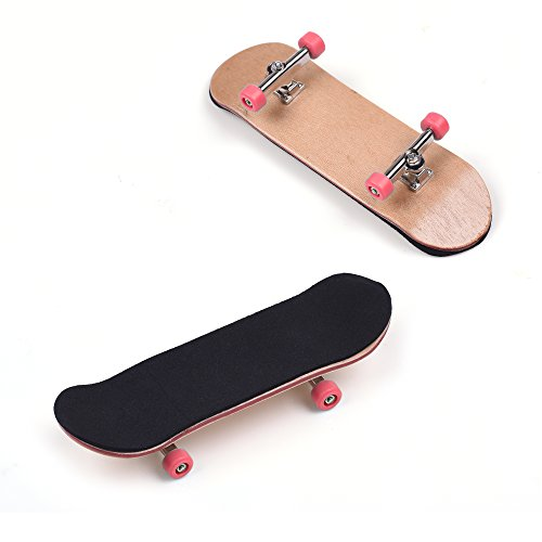 BCP-Wooden-Fingerboard-with-Red-Bearing-Wheels-Metal-Nuts-Trucks-Tool-Kit