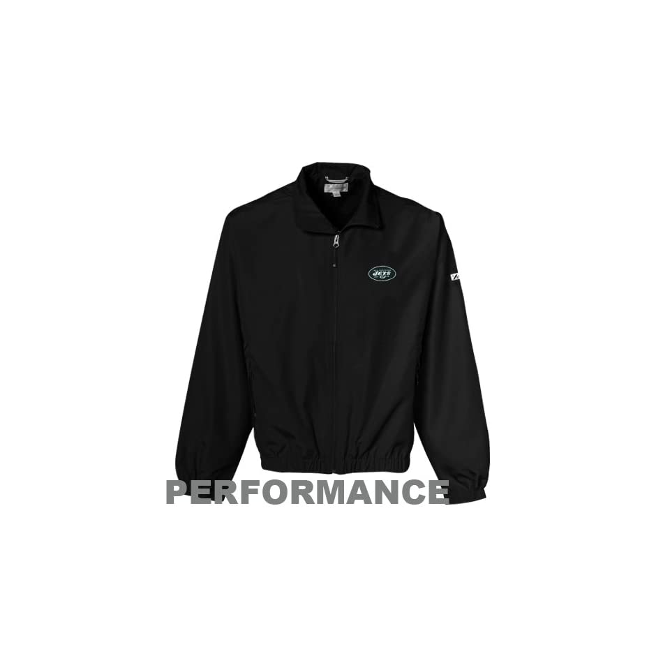 com Cutter & Buck New York Jets Black Bainbridge Performance Full Zip