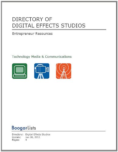 Directory of Digital Effects Studios (BoogarLists)