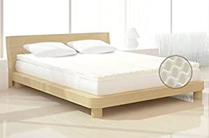 Milliard 2-Inch Egg Crate Ventilated Memory Foam Mattress Topper