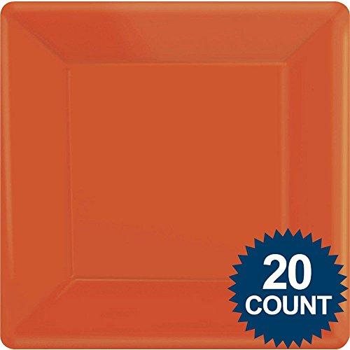 Orange Peel Square Paper Dinner Plate 20ct