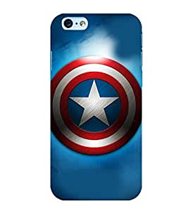 printtech Superhero Shield Star Back Case Cover for Apple iPhone 6S