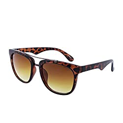 Laurels Uv Protected Brown Wayfarer Unisex Sunglasses -(Sup-0202T|Brown Lens)
