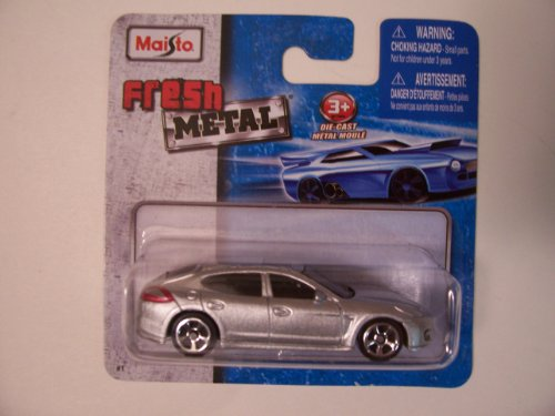 Maisto Fresh Metal Die-Cast Vehicles ~ Porsche Panamera Turbo (Silver)