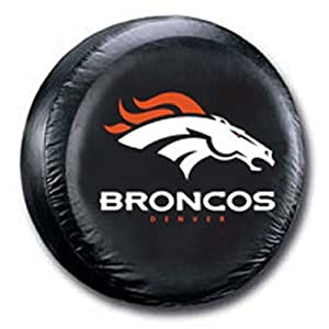 Denver Broncos Black Spare Tire Cover by Fremont Die