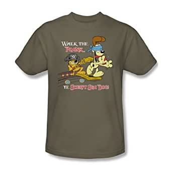 Garfield - - Walk The Plank T-Shirt adulte Dans Safari vert, XXX-Large, Safari vert