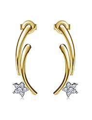 Dussehra - Diwali Festival Offer ! Vorra Fashion 14K Gold Plated & 925 Sterling Silver Gorgeous Fashion Stud Earrings...