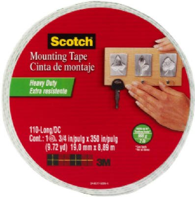 Scotch Foam Mounting Double Sided Tape - 0.75 Width X 29.17 Ft Length - Foam - Removable