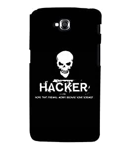printtech Hacker Back Case Cover for LG GPro Lite::LG G Pro Lite Dual D686