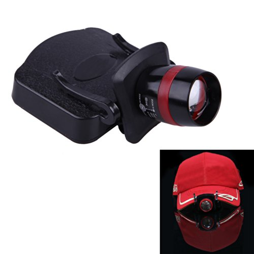 Ecoolbuy Zoom Led Clip Cap Light Adjustable Lamp Head For Mechanical Outdoor Hunting