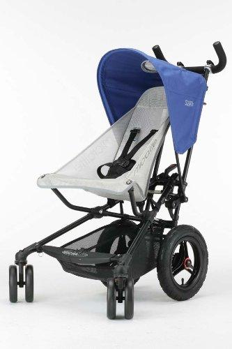 Micralite スーパーライト ブルー 【ベビーカー】【おでかけ】【2人乗り可】【大型中空タイヤ】 WLML01103