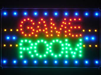 Adv pro led047 r game room led neon light sign business for Neon lights for rooms