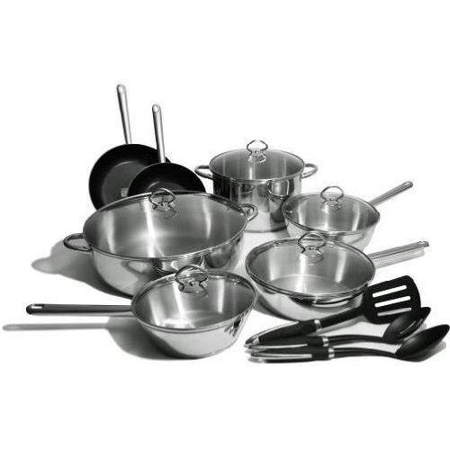 Kinetic Classicor Series Stainless Steel Cookware Set 29651, 15-Piece