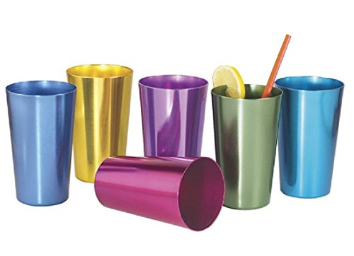 Set of 4 Anodized Aluminum Tumblers (Aluminum Cups compare prices)