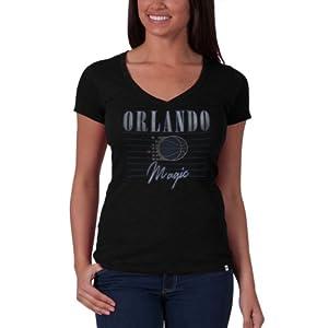 NBA Orlando Magic V-Neck Scrum Tee, Jet Black by