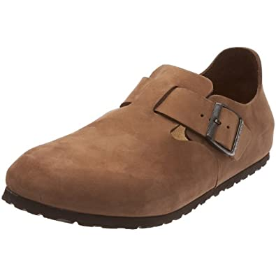 Birkenstock Shoes ''London'' from Leather in Cocoa 47.0 EU W