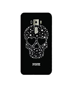 GripIt Starry Skull Printed Case for Asus Zenfone 3