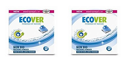(2 PACK) - Ecover Concentrated Non Bio Washing Powder | 3kg | 2 PACK - SUPER SAVER - SAVE MONEY